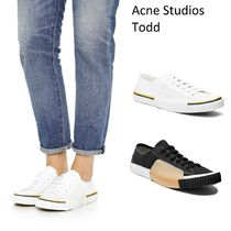 ACNE Todd black /white キャンバスレースアップテニスシューズ