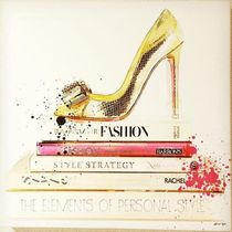 Oliver Gal★Gold Shoe and Fashion Books★キャンパス 4サイズ