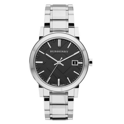 Burberry watches mens city silver black BU9001