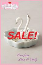 ラス1即納&店舗完売【Anthropologie】Swans Trinket Dish