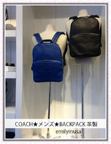 COACH★6月新作★メンズ★BACKPACK 革製 F72082★BLACK/DEN