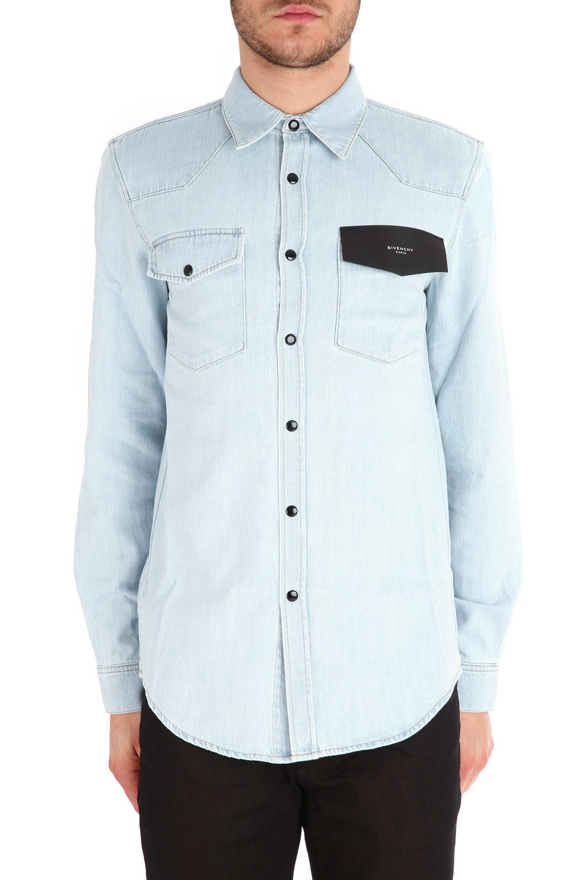 【関税送料込】 GIVENCHY 16SS DENIM SHIRT/SLIM FIT/LIGHT BLUE