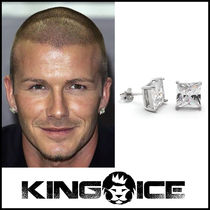 "David Beckham愛用 ""King Ice"" Real Diamond スタッズ ピアス"