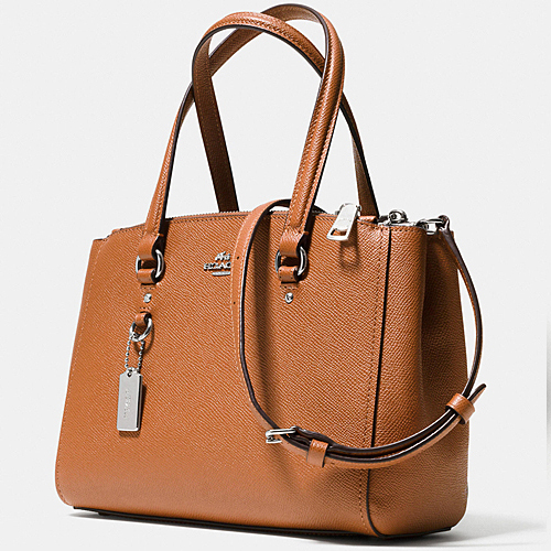 COACH★STANTON CARRYALL 26 IN CROSSGRAIN LEATHER (36881)