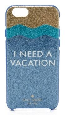 I Need A Vacation Glitter iPhone 6 / 6s Case