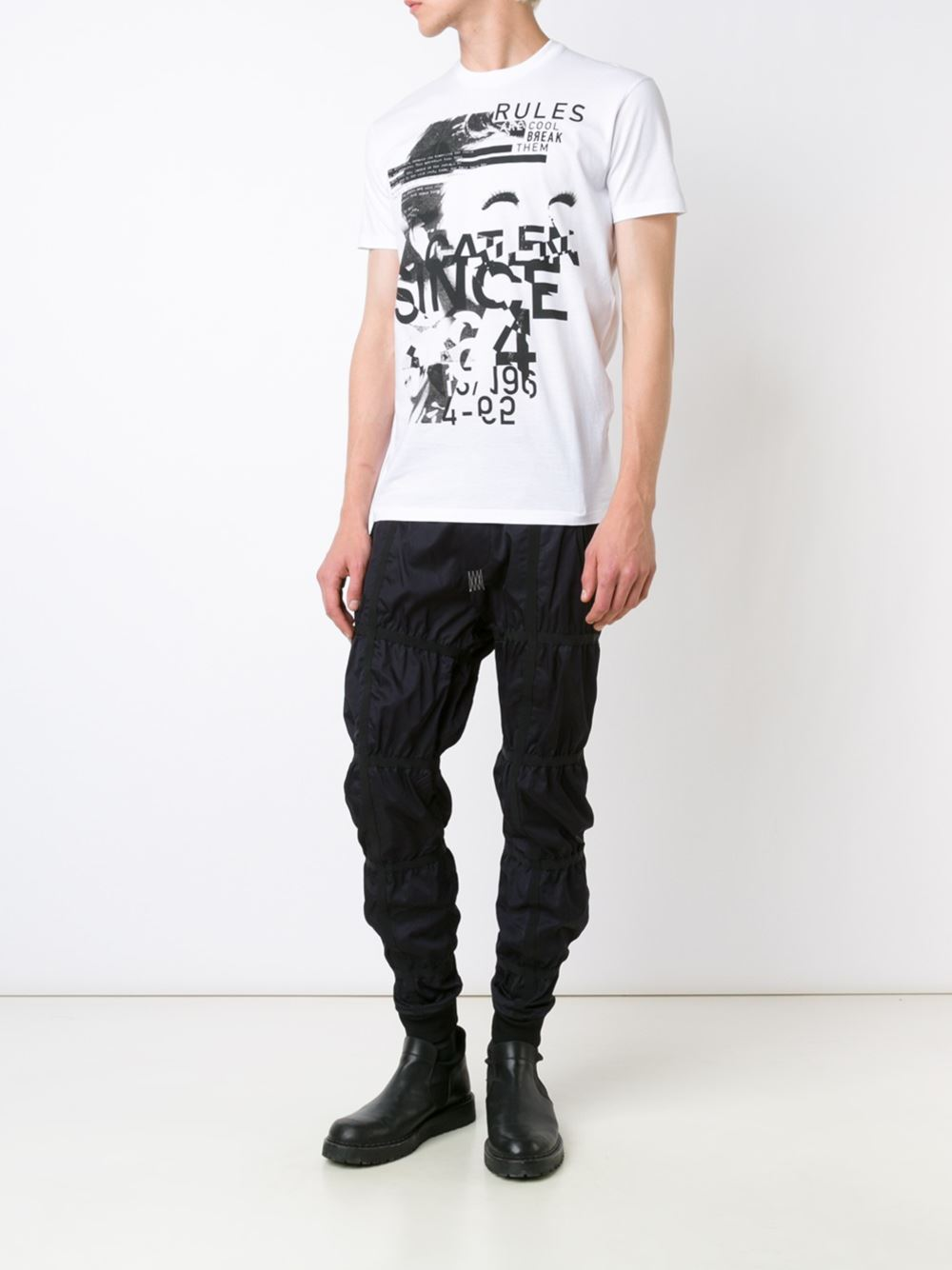 16AW-17AW 国内発送 ディースクエアード Dyed Rules Tシャツ