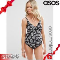 ASOS(エイソス) マタニティその他 ★ASOS★ Maternity Mono Palm プリント Ruched suit
