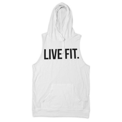 Live Fit(LVFT)☆Live Fit. Cut Off Hoodie