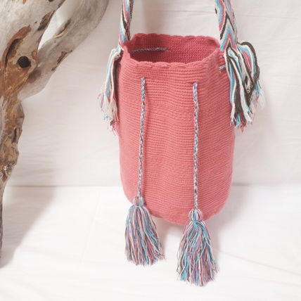 ショルダーバッグ・ポシェット WAYUU MOCHILA SOLID BAG from La Guajira Colombia (2)