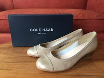 セール☆Cole Haan Elsie Cap Toe Wedge(ソフトゴールド)