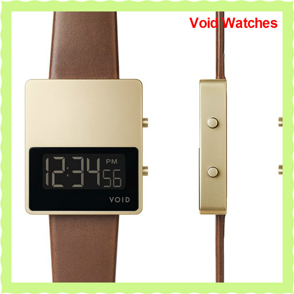 送込【Void Watches】V01MKIIデジタルウォッチGold/LightBrown
