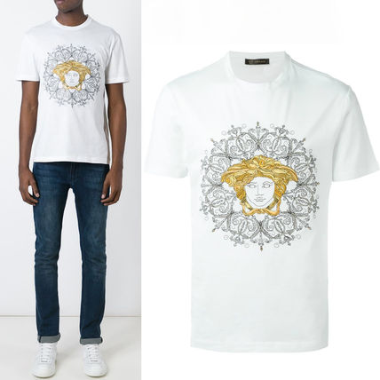 16SS VER089 EMBROIDERED MEDUSA HEAD T-SHIRT