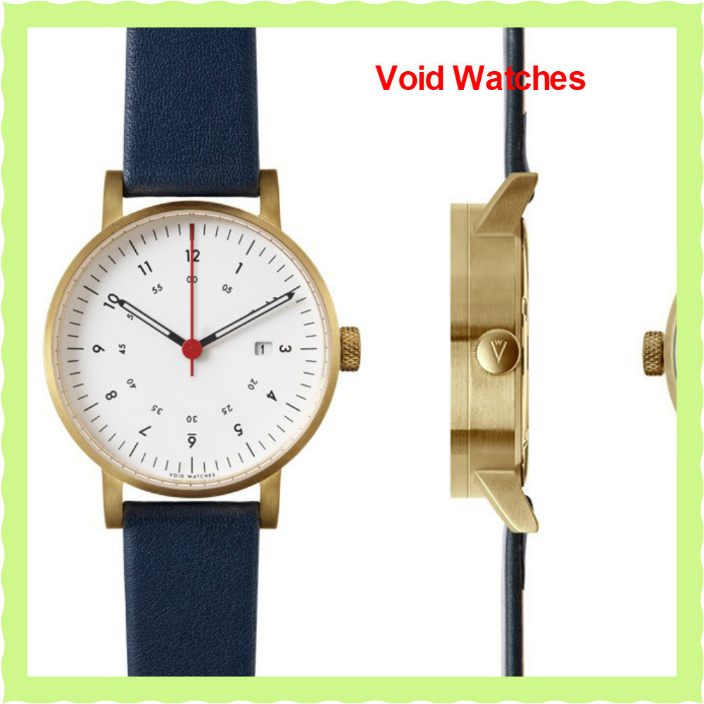 関・送込!【Void Watches】V03Dデイト表示 White/Blue