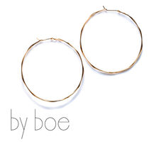 by boe(バイボー) LARGE TWISTED HOOPS イヤリング E402 Large