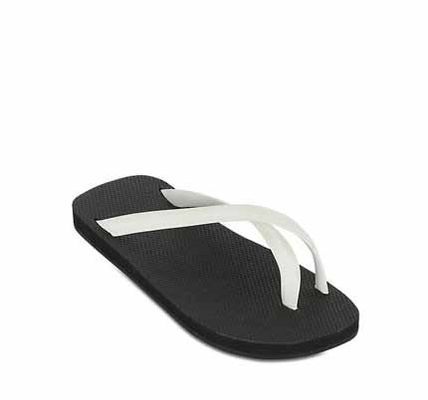 TWO TONE CROSS TOE LUXE FLIP FLOPS
