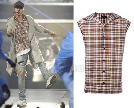 【Justin Bieber愛用】☆日本未入荷☆Sleeveless Plaid Shirt