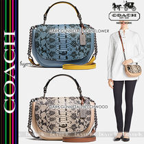 COACH★NOMAD TOP HANDLE CROSSBODY IN EXOTIC LEATHER (37181)