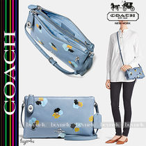 COACH★CROSBY CROSSBODY IN FLORAL PRINT PEBBLE LEATHER 37170
