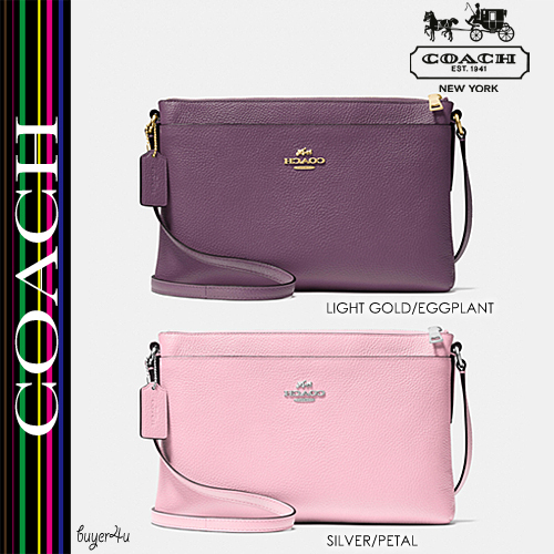 COACH★JOURNAL CROSSBODY IN PEBBLE LEATHER (53357)