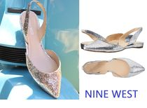セール! Nine West Werein Flat / Silver