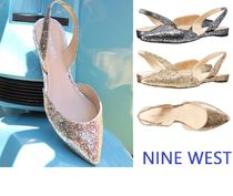セール! Nine West Werein Flat / Gold,Pewter