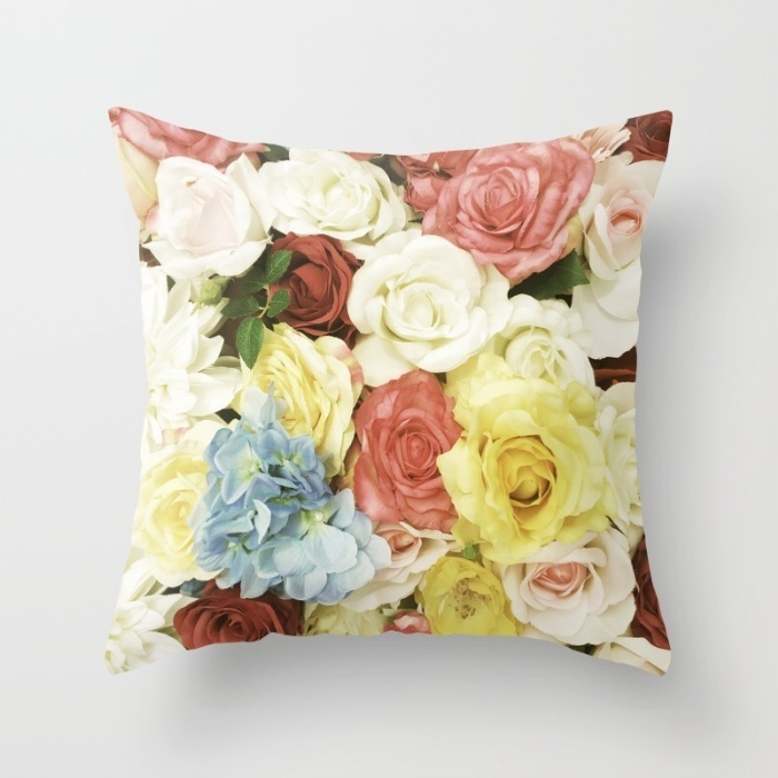 Society6★クッションカバー★Colorful flowers ver7