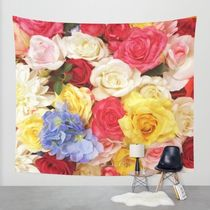 Society6◆タペストリー◆Colorful flowers◆M:173cm × 203cm