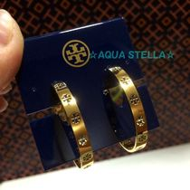 プレゼントにも!! Tory Burch 16K Gold Plated 輪っか Earrings