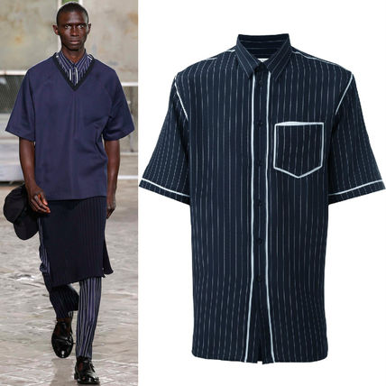 16SS G081 LOOK35 OVERSIZED PINSTRIPE SHIRT