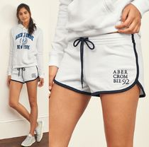 ★即発送★在庫あり★A&F★Logo Fleece Curved Hem Shorts★