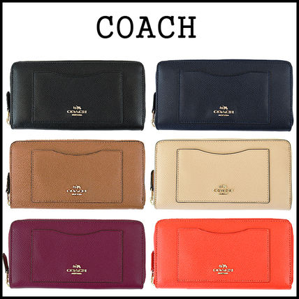 3-5 days at COACH cross grain leather long wallet F54007