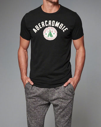Abercrombie & Fitch Tシャツ・カットソー 即発可!アバクロ Tシャツ【Camp Logo Graphic Tee】Black(2)