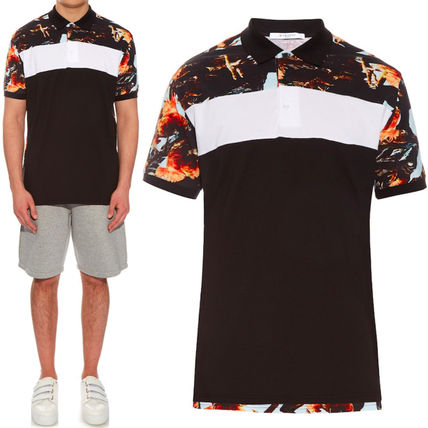 16SS G090 ROOSTER PRINT POLO SHIRT