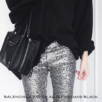 BALENCIAGA PAPIER A6 ZIP AROUND BLACK 370926 DBCAN 1000 2WAY
