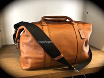 【Coach】本革製/LEATHER EXPLORER DUFFLE F93471/サドル