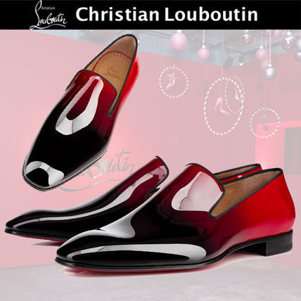 Gradient Christian Louboutin Dandelion leather loafer