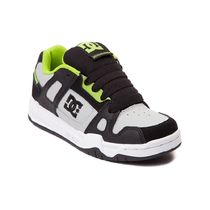 DC Shoes(ディーシーシューズ) メンズ・シューズ Youth/Tween DC Stag Skate Shoe[送料込み]  Gray/Black/Lime