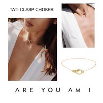 ARE YOU AM I(アーユーアムアイ) ネックレス・ペンダント モデル愛用中*ARE YOU AM I*TATI CLASP CHOKERチョーカー