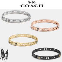 ★ COACH ★ Daisy rivet pierced kissing c bangle