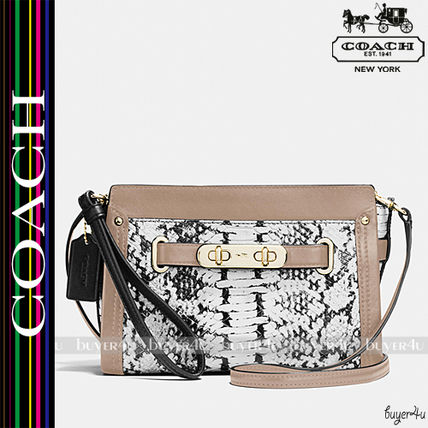 COACH★SWAGGER WRISTLET COLORBLOCK  EMBOSSED LEATHER (64731)