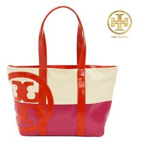 即発【TORYBURCH】SMALL DIPPED BEACH TOTE キャンバストート