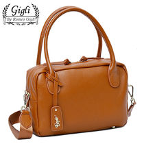 ★SALE★Gigli by Romeo Gigli レザーの2WAYボストン♪ CAMEL