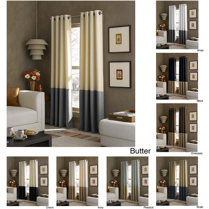 Curtain length / color modern 2 piece set hotels like