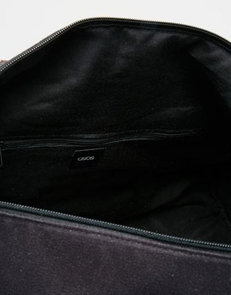 ASOS Holdall In Navy Canvas