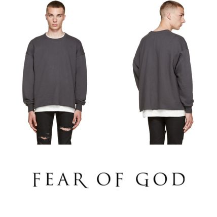 2016! ラスト1点! FEAR OF GOD Grey Crewneck Pullover