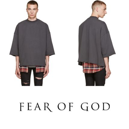 2016! ラスト1点! FEAR OF GOD Grey Mock Neck Pullover