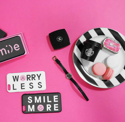 iPhone・スマホケース 「LuckyMe LuckyYou」 スマイル エモーティコン Smile Emoticon(2)
