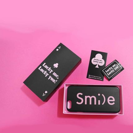 iPhone・スマホケース 「LuckyMe LuckyYou」 スマイル フォント SmileFont(3)