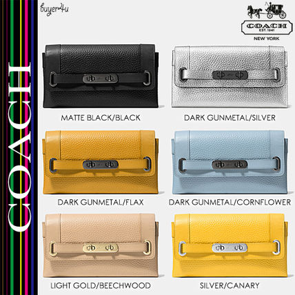 COACH★大人気☆COACH SWAGGER WALLET PEBBLE LEATHER 53028