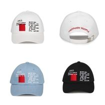 ORDINARY PEOPLEのSHINeeジョンヒョン着用RED STAMP CAP